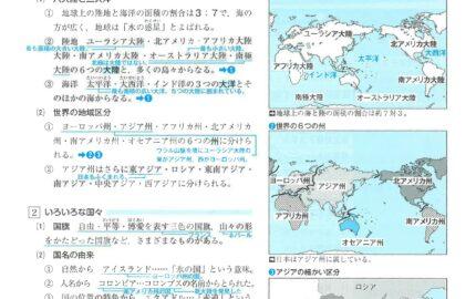 中1社会地理世界の全体像の要点まとめ