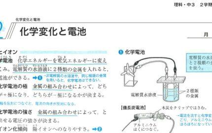 中3理科化学変化と電池の要点まとめ
