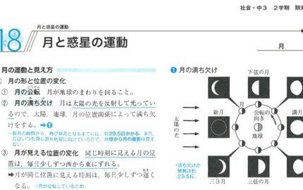 中3理科月と惑星の運動の要点まとめ