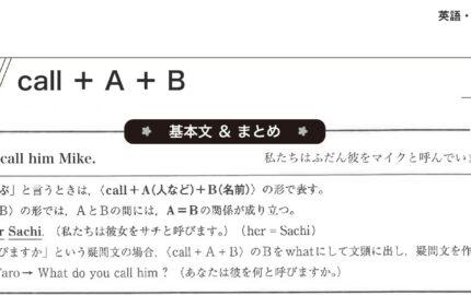 中3英語call A Bの基本文まとめ
