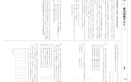 中1の3学期国語実力テスト国語